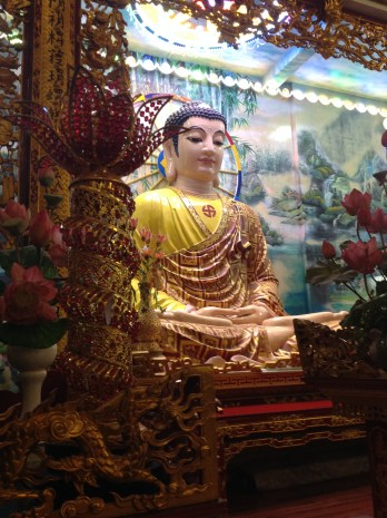 Buddha statue inside the pagoda